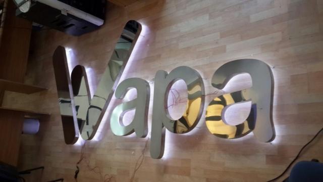 letras tipo block con vinil metalico guatemala