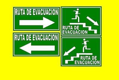 rotulacion industrial guatemala - rutas de evacuacion