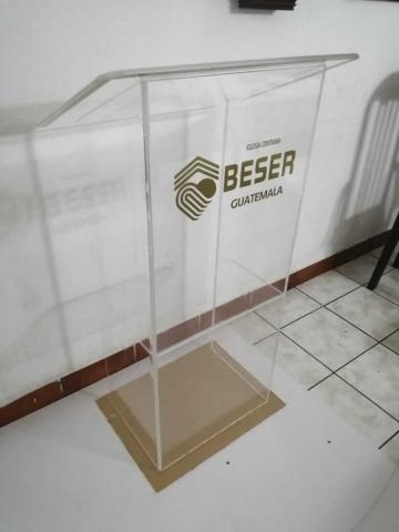 trabajo acrilico pulpito - iglesia beser guatemala