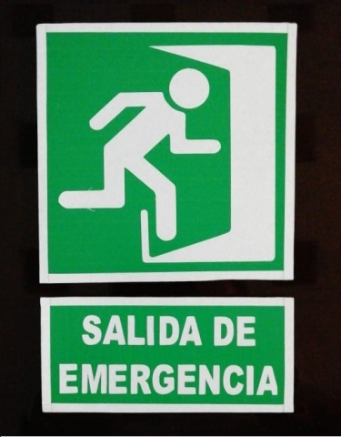 señalizacion industrial guatemala - salida de emergencia