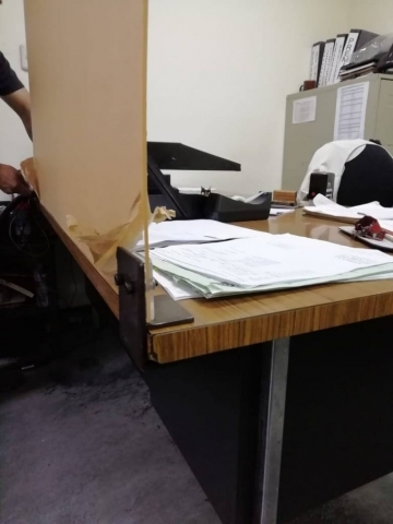 escritorio mampara empacada guatemala