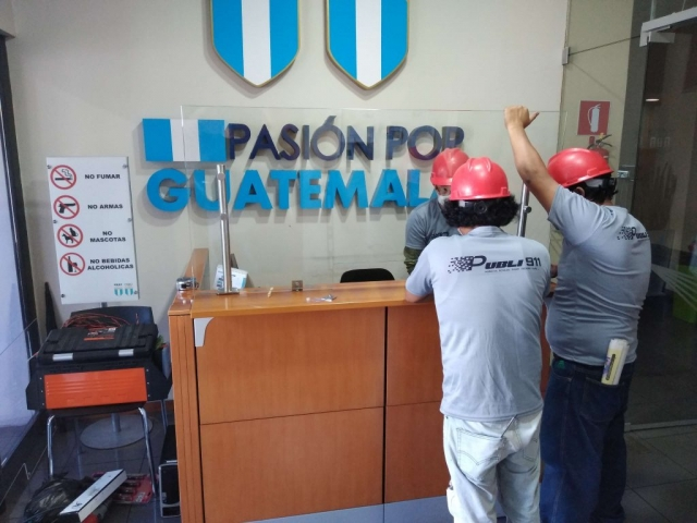 instalacion vidrio templado guatemala